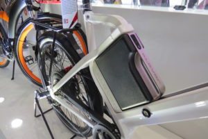 square battery electric bike