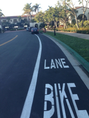 cars-parked-in-the-bike-lane-interbike-electric-bike-event
