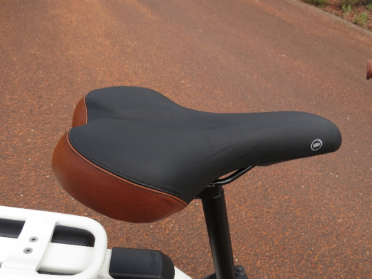 The Alva + saddle is mid way between a racing style saddle and a pure comfort style saddle.