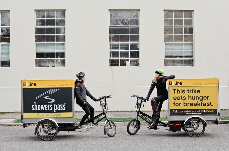Truck Replaced! B-Line = Delivery by Electric Trike in ...