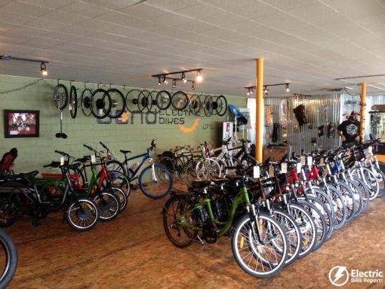 The Bend Electric Bikes showroom