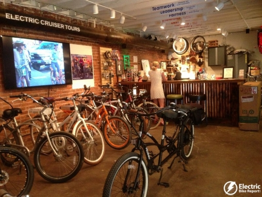 The Let it Ride showroom