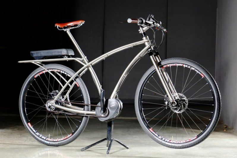 Custom Electric Bikes With Bosch Mid Drive Gates Belt