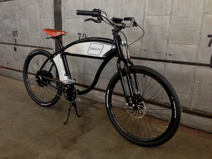 derringer cycles retro board track style electric bike. Black Bedroom Furniture Sets. Home Design Ideas