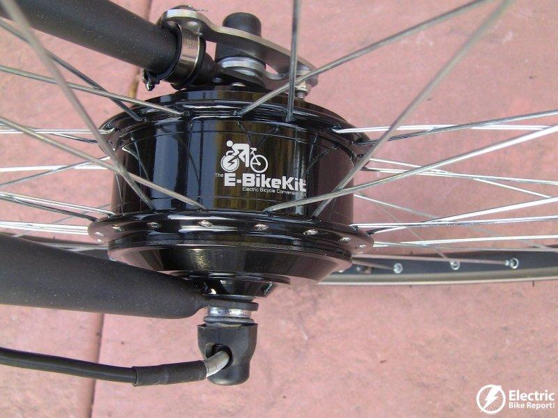 E bike kit review geared front hub motor lead acid for Best electric bike motor