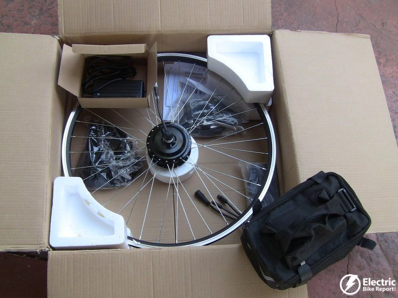 E-Bike Kit: Specs, Pictures, & Video for Geared Front Motor & Lead