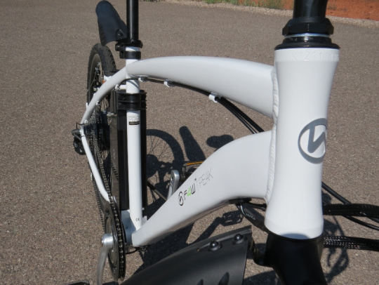 The F4W Peak has a mountain bike style aluminum frame