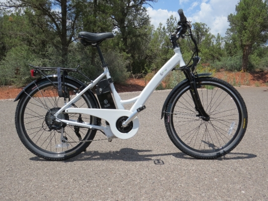 Ready to Ride!  The F4W Ride is an easily rideable urban e-bike with it's step thru frame and comfortable riding position.