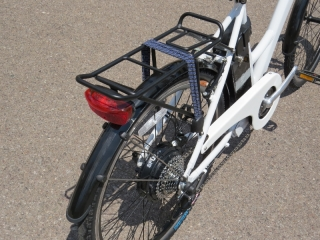 The rear rack and rear fender on the F4W Ride.