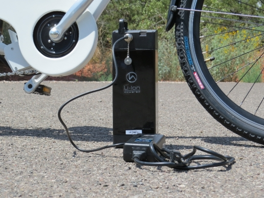 The battery can be charged when it has been removed from the bike.