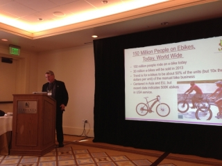 ed-benjamin-speaking-at-the-interbike-electric-bike-event