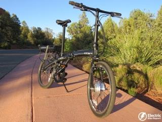 izip-e3-compact-electric-bike-sunset