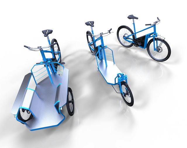 modular electric cargo bike design from italy electric. Black Bedroom Furniture Sets. Home Design Ideas