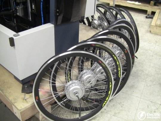 front-hub-motor-wheels-prodeco-electric-bike-assembly-facility