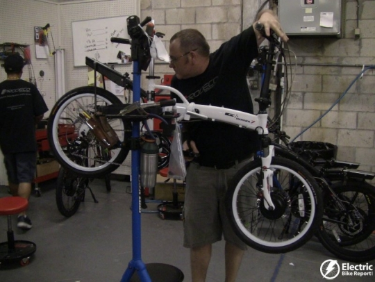prodeco-mariner-7-being-tuned-prodeco-electric-bike-assembly-facility