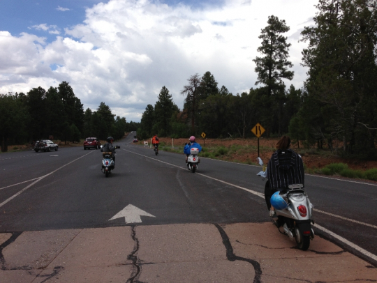 Canyon bound!  The RTFT crew enters Grand Canyon National Park.