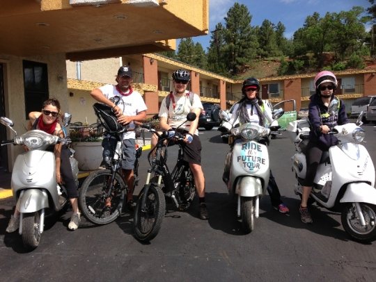 The start of the Flagstaff to Grand Canyon ride!