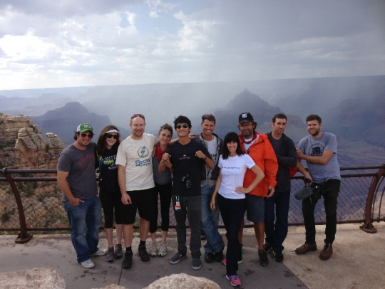 The Ride the Future crew and myself enjoying some time at the Canyon edge