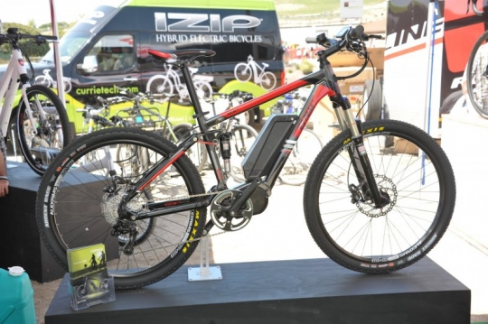 izip peak full suspension electric bike
