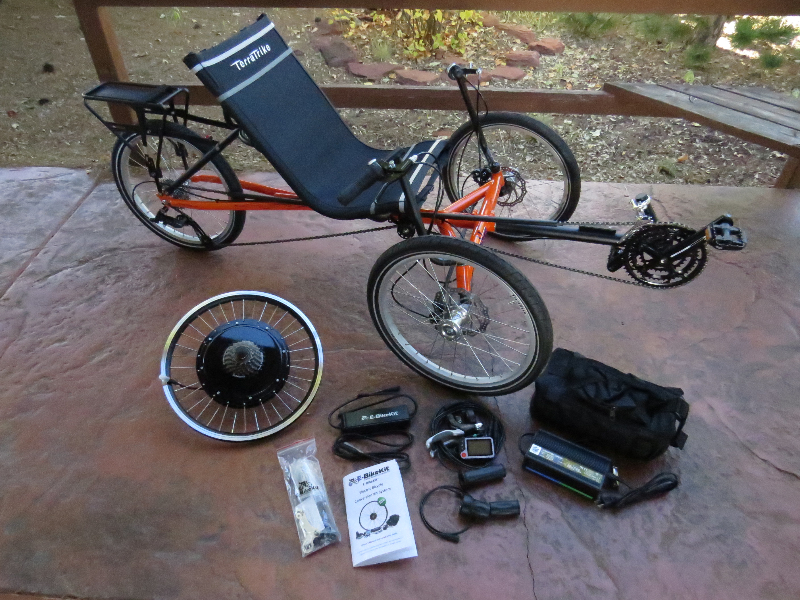 TerraTrike Rambler with E-BikeKit Pictures & Specs