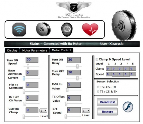Falco interface motor control