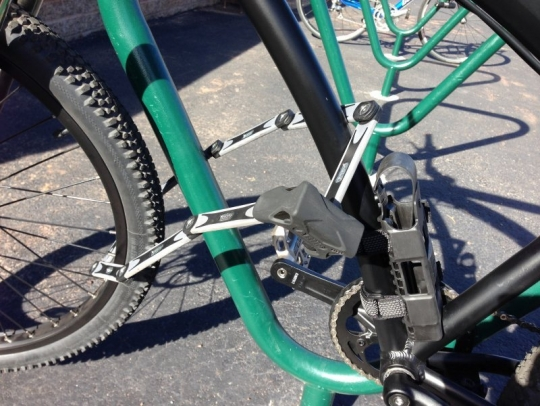 prodecotech electric bike and abus lock