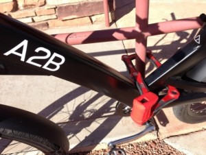 a2b electric bike and abus lock