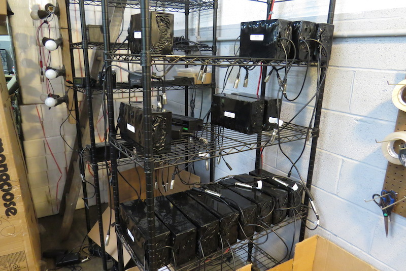 After the lead acid batteries are assembled they are charged and stored here.