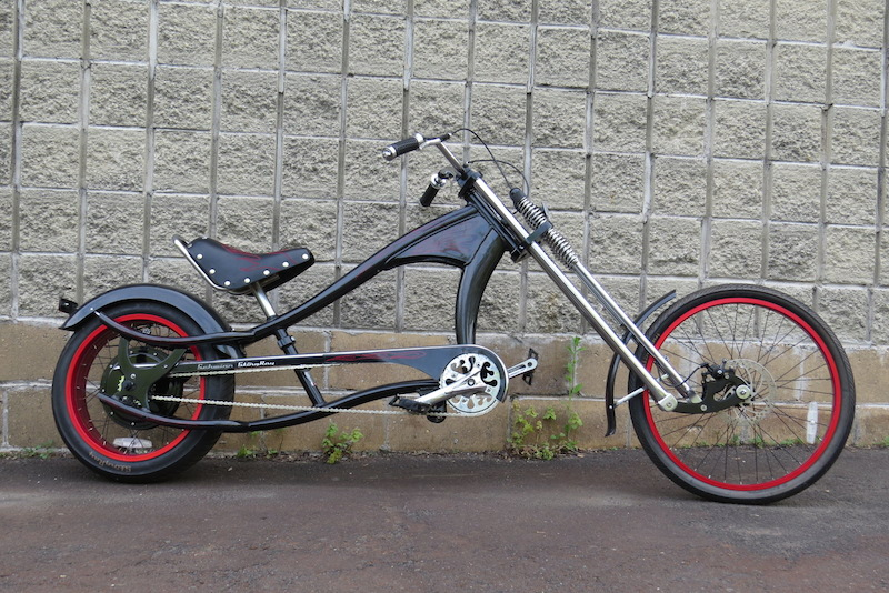 Here is an E-BikeKit chopper in the works!