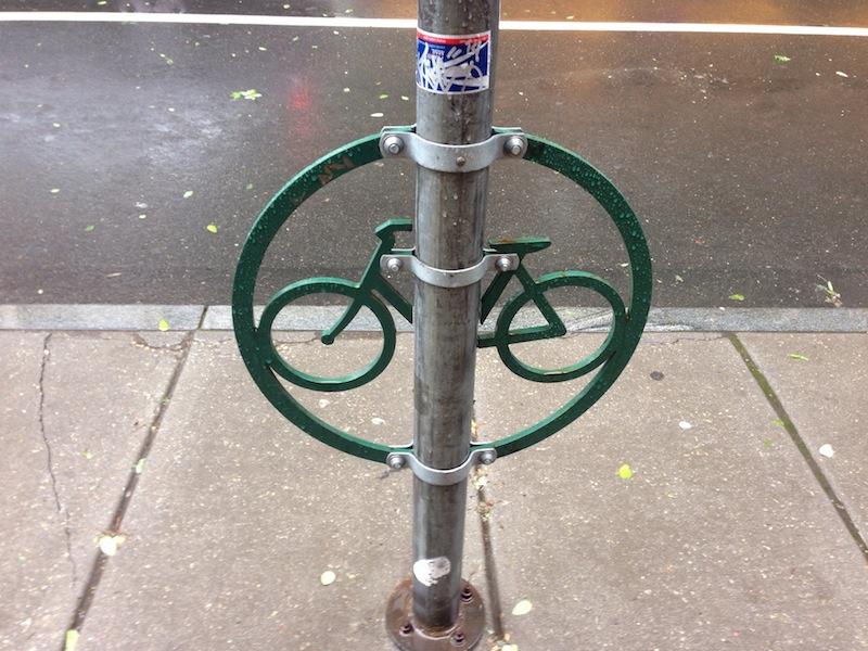 Creative bike locking structure in Philly.