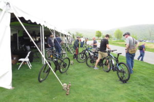 Journalists swarm to ride e-bikes at the Charged up electric bike media event!