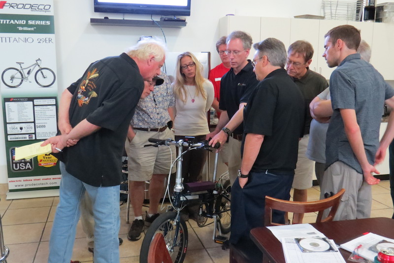 ASI was at the training to provide information on their electric bike controllers.