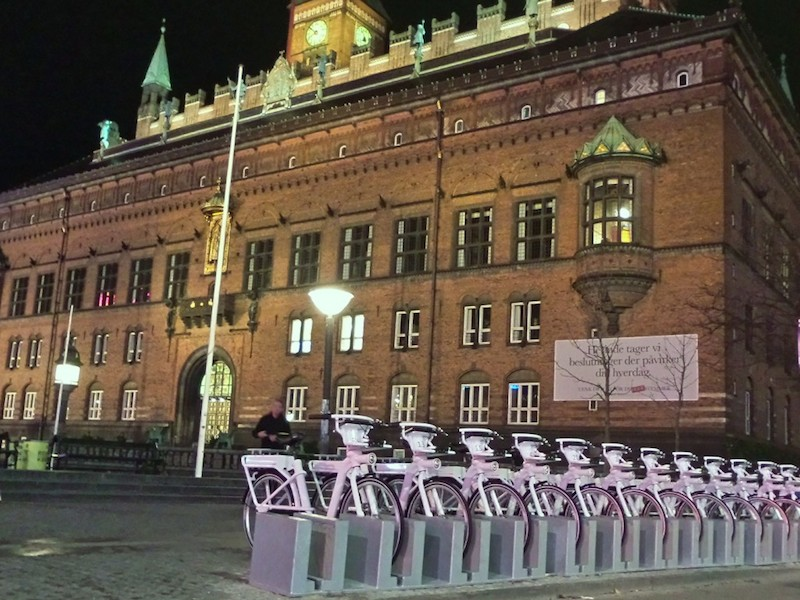Copenhagen electric bike share program city hall