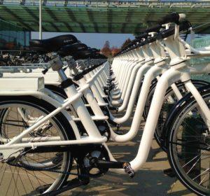 Copenhagen electric bike share program station 2