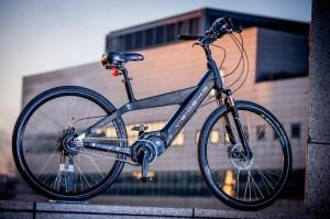 The high tech Visiobike e-bike!