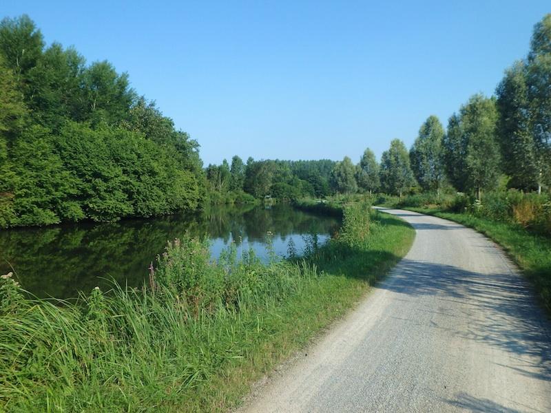 European electric bike tour path