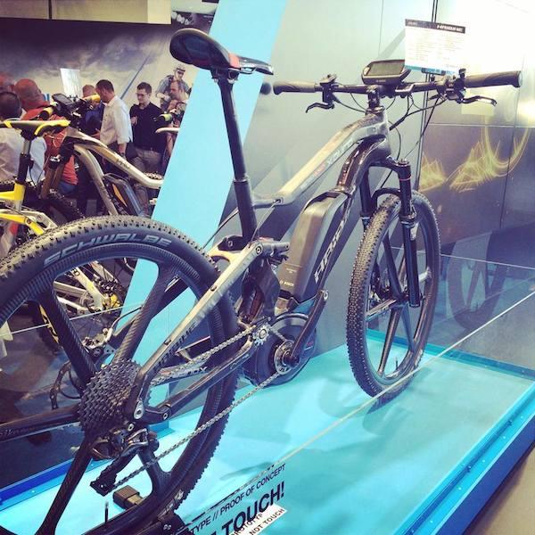 haibike full carbon electric mountain bike eurobike