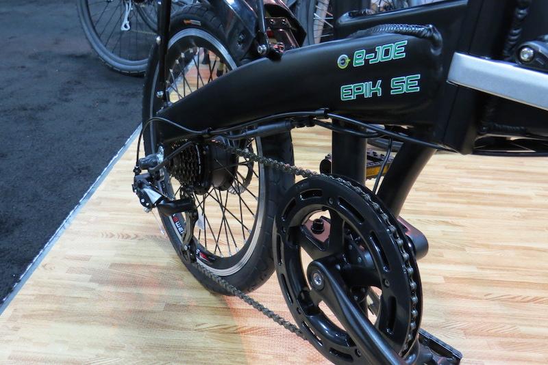 ejoe epik se folding electric bike cranks