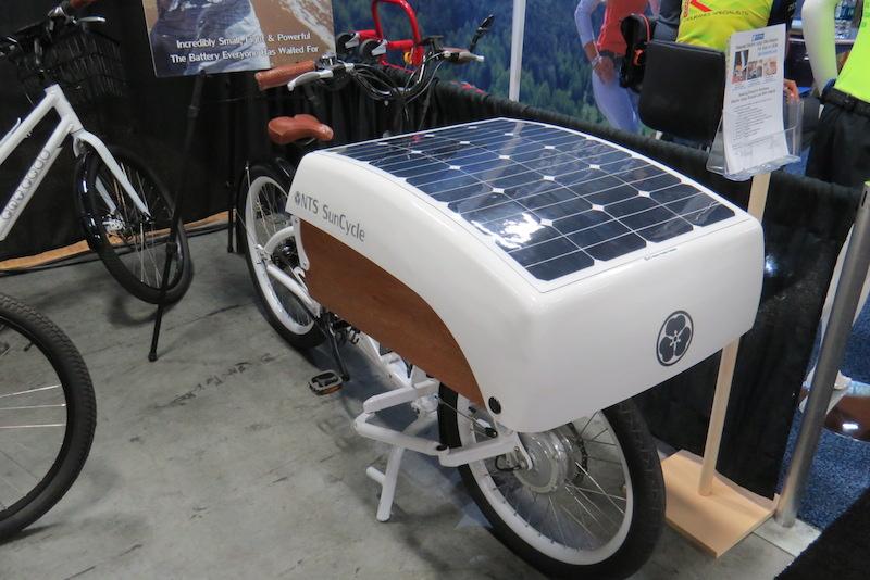 nts suncycle solar charging cargo bike