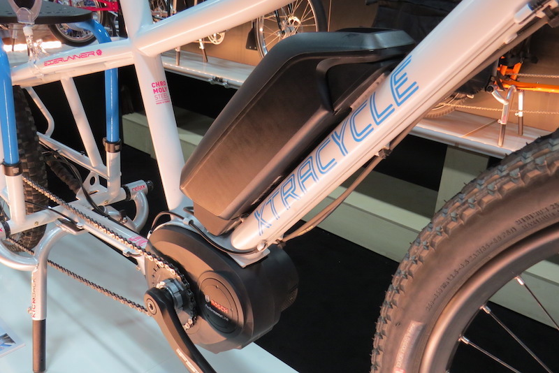 xtracycle bosh edgerunner electric cargo bike motor battery