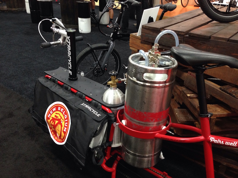 xtracycle edgerunner cargo bike beer keg