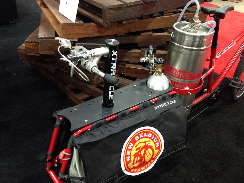 xtracycle edgerunner cargo bike beer tap
