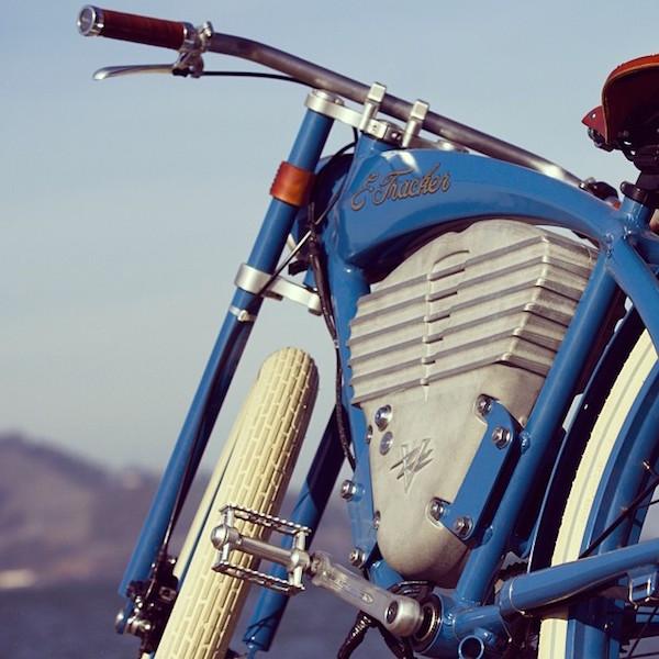 vintage e-tracker electric bike side