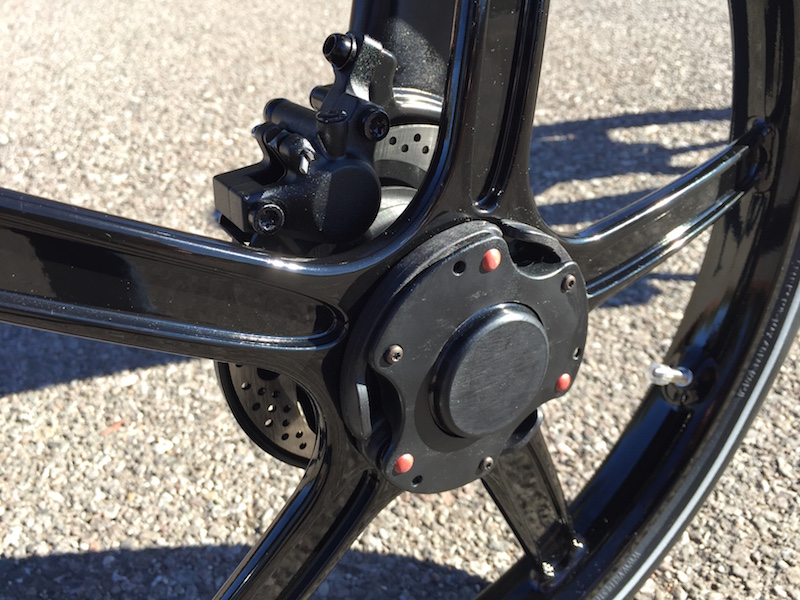 Gocycle front wheel quick release