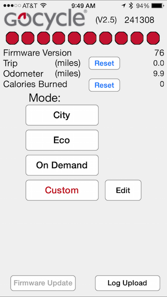 Gocycle smartphone app 1