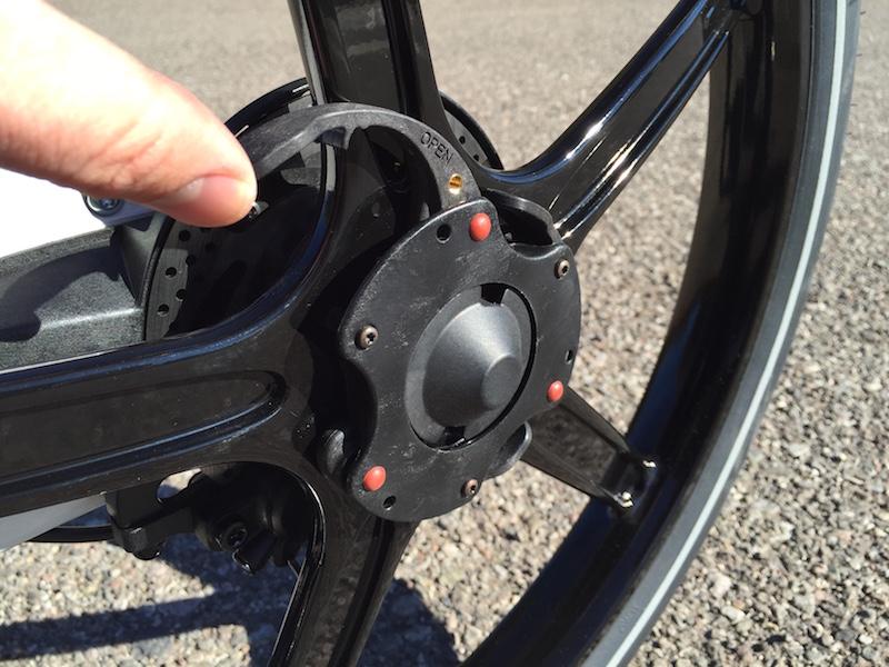 Gocycle wheel quick release