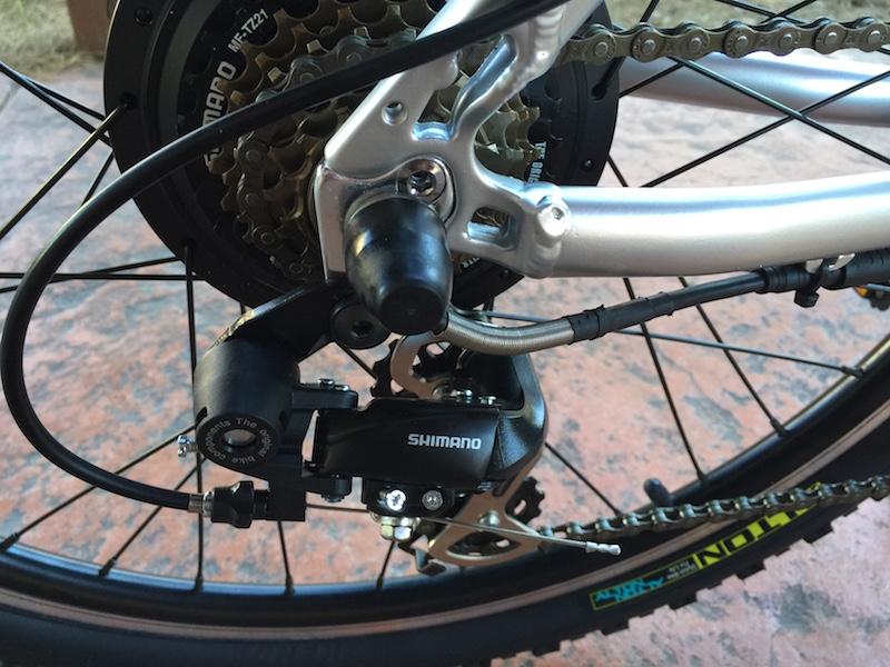 GenZe Sport electric bike derailleur