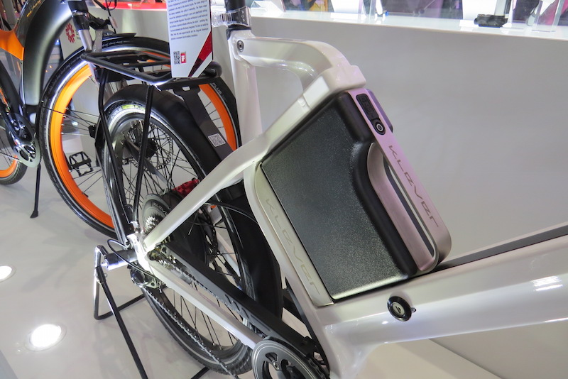 square battery electric bike