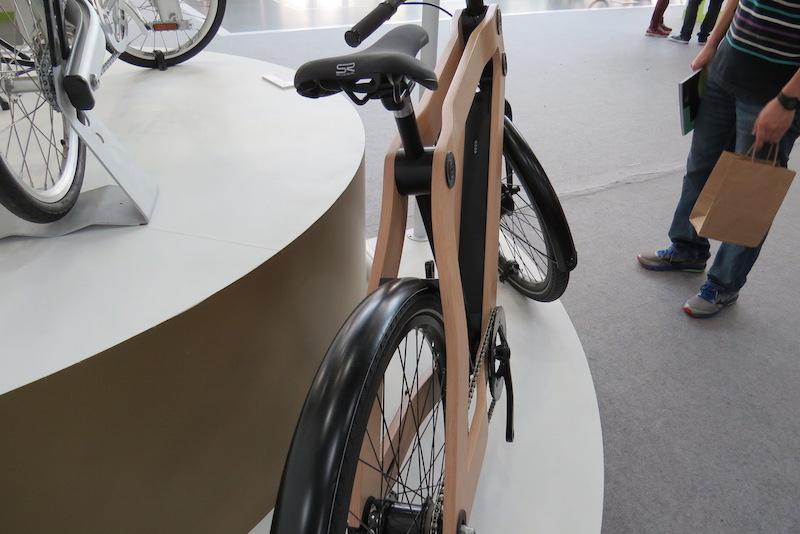 wood protanium electric bike frame