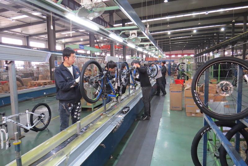golden wheel bike assembly line